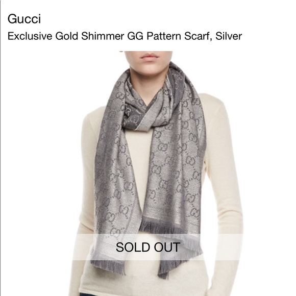 b9ac643b9d5 Gucci Accessories - NWT Gucci Silver Scarf